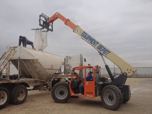 transloading super sack to pneumatic