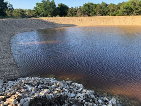 Pond after sodium bentonite application.