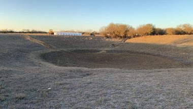 dry pond with out bentonite for ponds