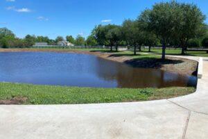 recreational pond construction with bentonite pond sealer