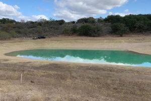 Pond treated with Bentonite Pond Sealant