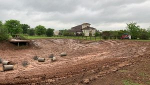 residential pond reshaping