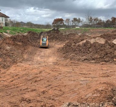 residential pond construction