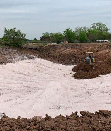 repairing a pond with bentonite pond liner