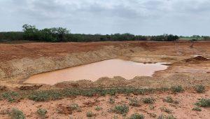 farm pond construction project
