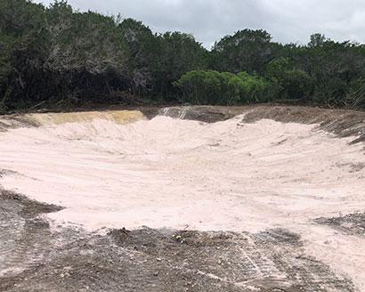 bentonite clay pond liner texas